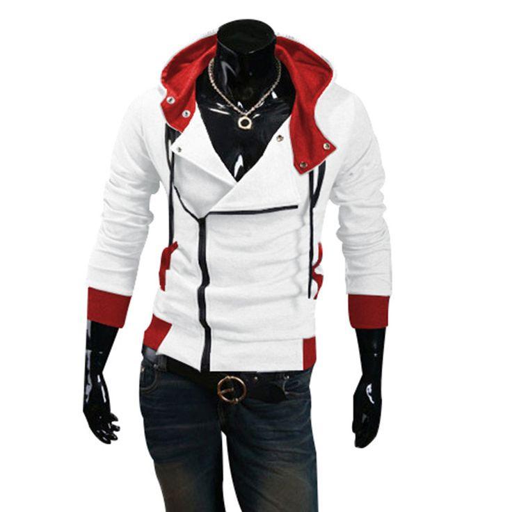12 colors M-6XL 2016 Hoodies Men Sweatshirt Male Tracksuit Hooded Jacket Casual Male Hooded Jackets moleton Assassins Creed