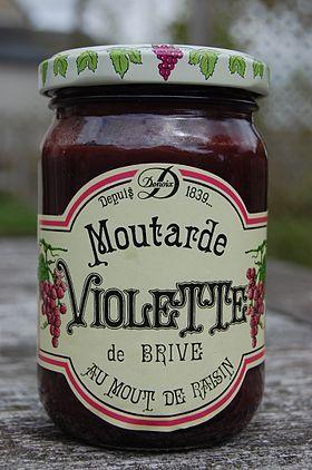 Brive la Gaillarde (Corrèze) - la moutarde violette de Brive #YesYouAre #Limousin
