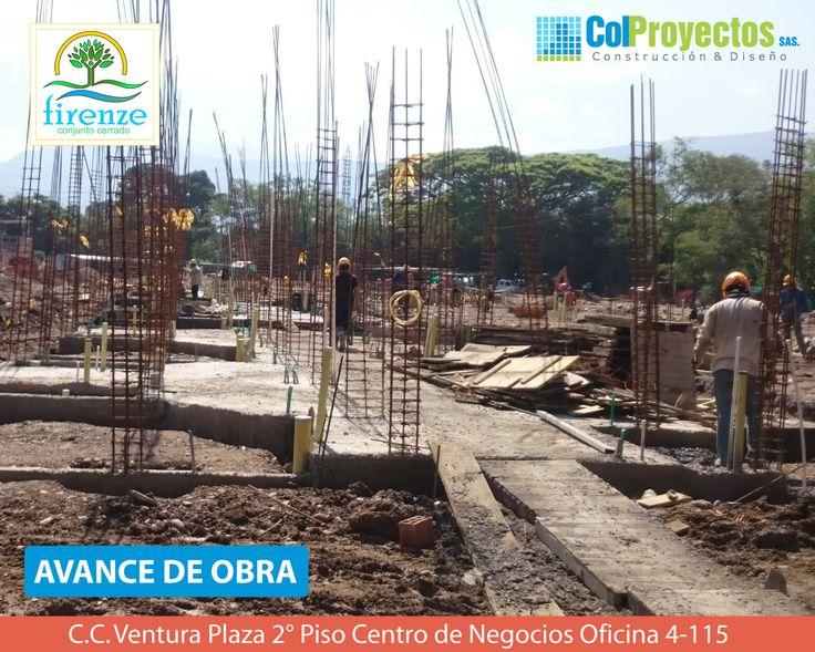 Así avanza la construcción de nuestro proyecto Firenze,Decídete a invertir en este proyecto. Más informacion en: www.colproyectos.com Telefonos: 5755151 - 5754900 - 3182543315