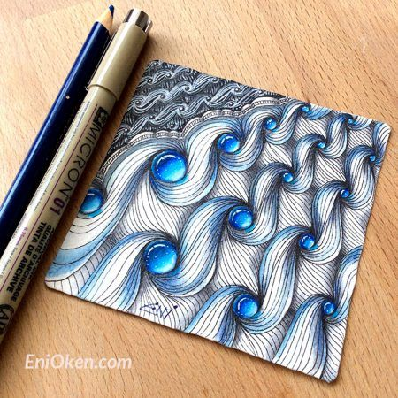 Art Ed Central loves: Learn how to shade Zentangle® with Eni Oken • enioken.com