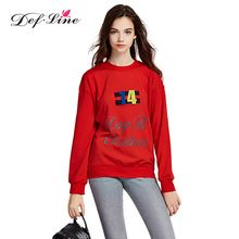 DEFLINE 2016 Fashion Red Women Hoodies Christmas Letters Printed Cute Women Hoodies Causal Slim Women Sweatshirts Pullovers(China (Mainland))