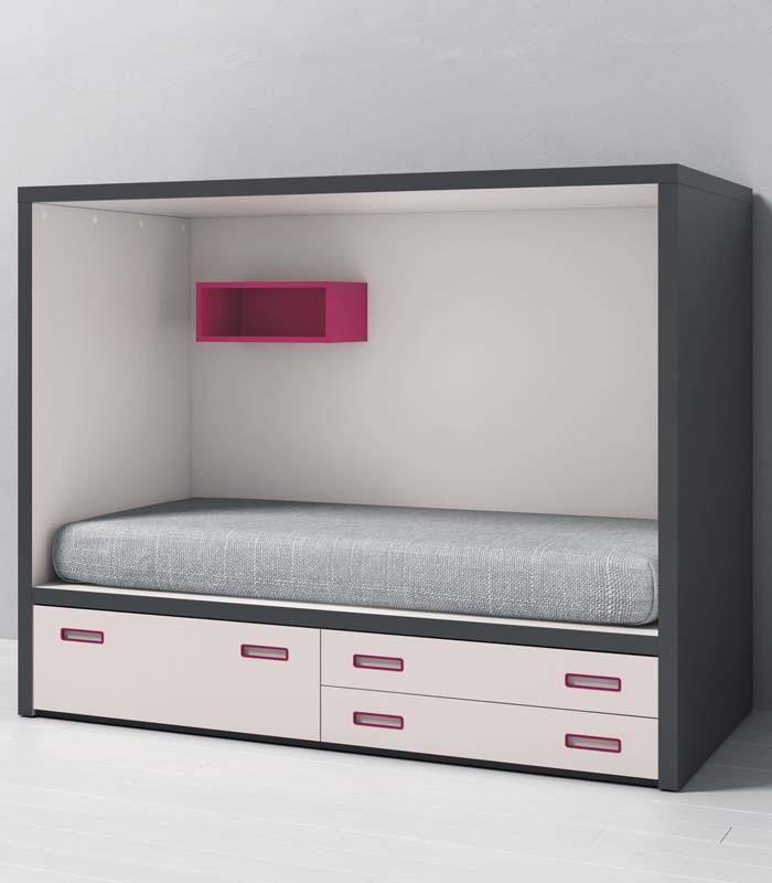 Marvelous La cama infantil Dado con cajones de la firma Tegar Mobel cuenta con una nica