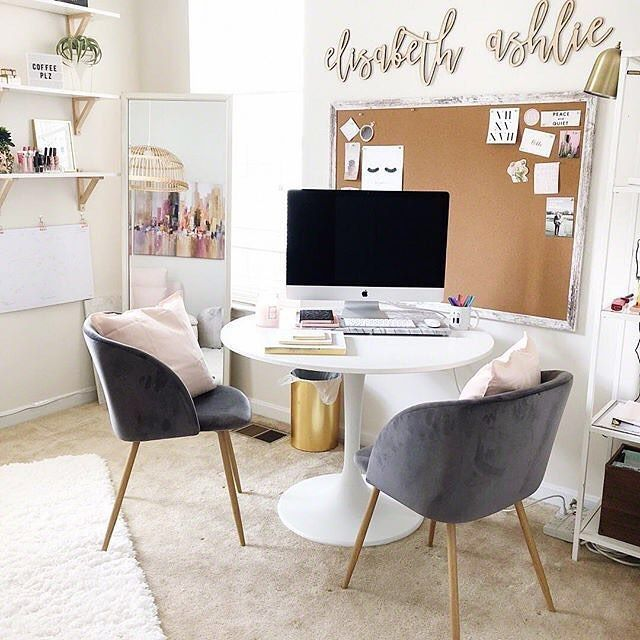 4 804 Likes 21 Comments Ltkhome Liketoknow It Home On Instagram You Can Instantly Shop This Home Office Table Feminine Home Offices Home Office Decor