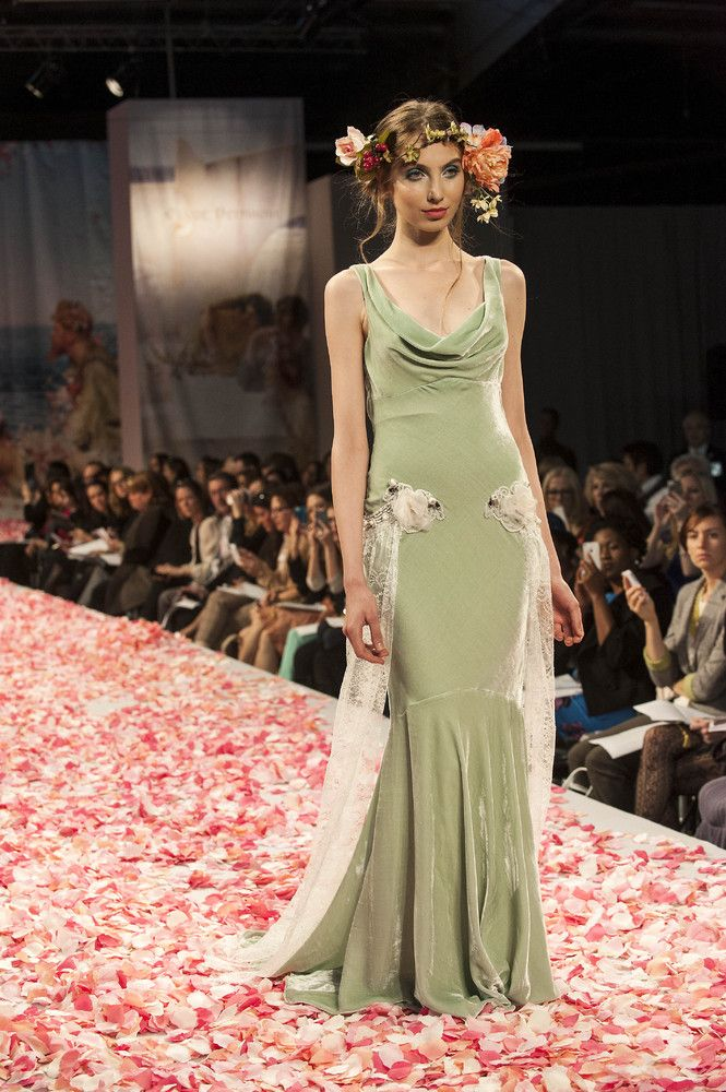 sage green wedding renewel dresses