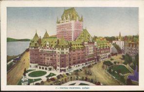 Lorenzo Audet Postcard, Chateau Frontenac, Quebec, 2