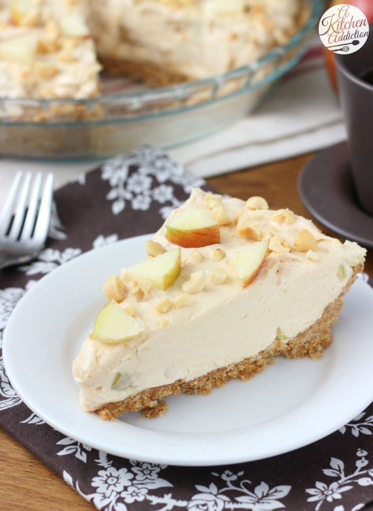 Apple Peanut Butter Oatmeal Cookie Cheesecake Recipe from A Kitchen Addiction