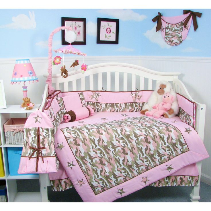 baby girl bedding camo baby crib nursery bedding set 13 pcs pink camouflage baby bedding