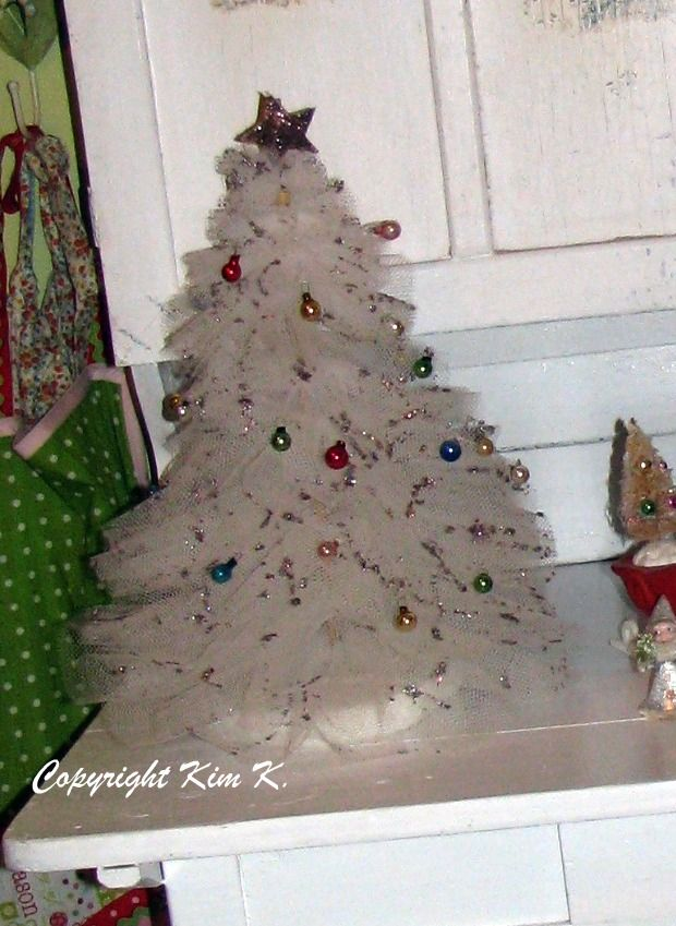 "This tutorial for a tulle Christmas tree is so easy and has several illustrations. Although it is intended for home decor, it is a wonderful project for us doll lovers (use the 18"" dowel for the project and it's perfect for American Girl dolls). Now is the time to make before the hectic holiday season begins."