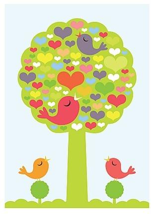 round tree birds