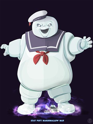 Ghostbusters - Stay Puft by =TraditionalDanimatio on deviantART