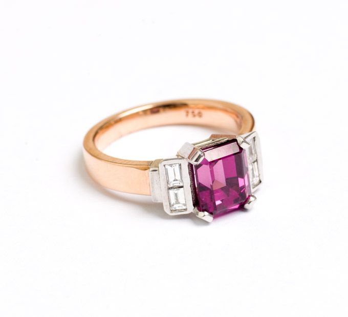 Rose gold and Pink Tourmaline