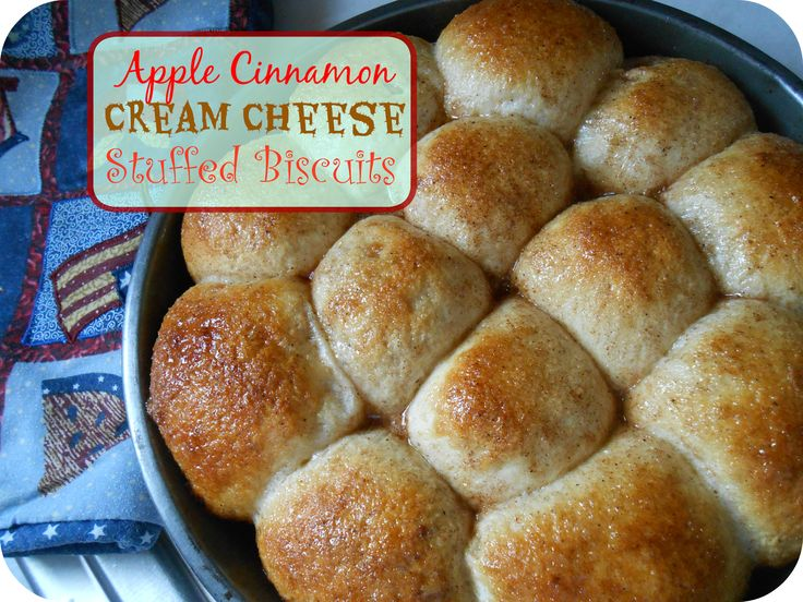 The Better Baker: Apple Cinnamon Cream Cheese Stuffed Biscuits