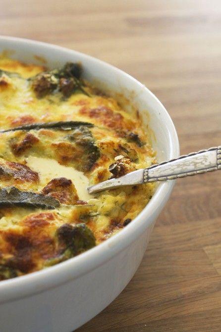 Blomkål og broccoli i mascarpone // Caulifllower and broccoli gratin with mascarpone