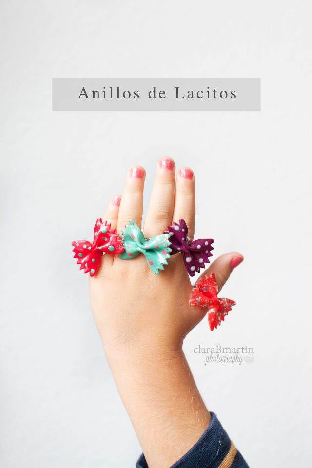 DIY: Anillos con Lacitos de Pasta via clarabmartin