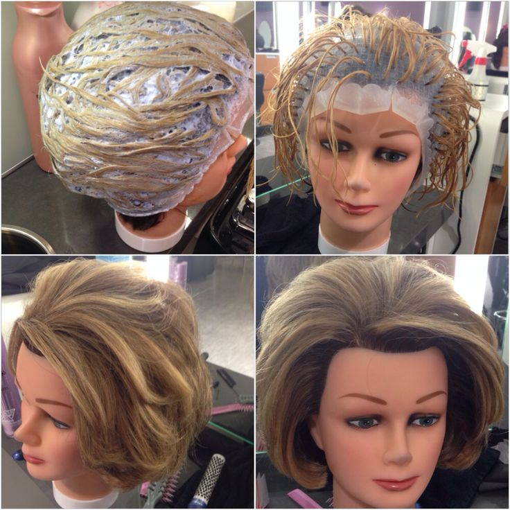 45 best hair colour chemistry experiments images on pinterest cap highlights i did on my mannequin pmusecretfo Gallery