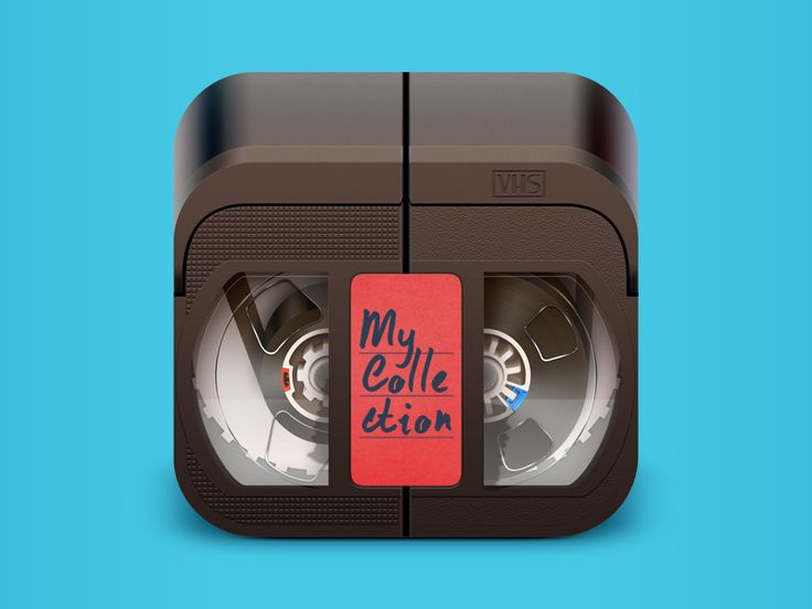Here is some another app icon with the concept that some young people may not recognize ;)  Well, now we all have a lot of devices like smartphones, tablets, laptops. We are using Blue rays, CD dis...