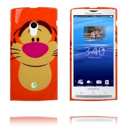 Happy Cartoon (Tiger) Sony Ericsson Xperia X10 Deksel