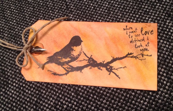 Tag *Bird* made by Kine Kristiansen