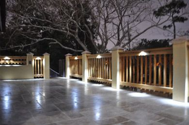 Illuminate your deck with our LED bullet lights.