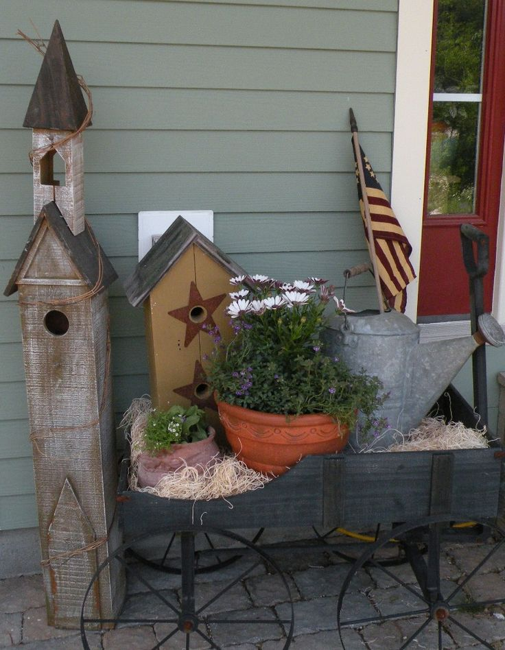 Patriotic Front Porch - Spring and Garden from Simple Gatherings Blog