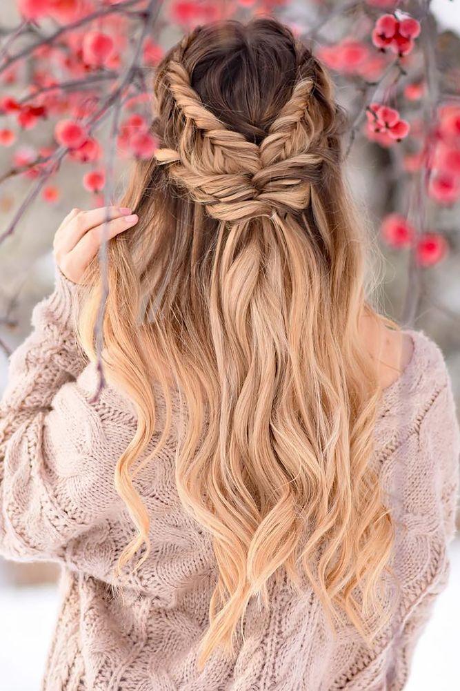 boho wedding hairstyles-twisted-half-up half down braidsbyjordan