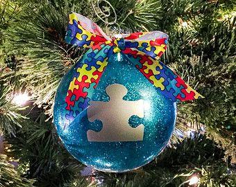Autism Awareness Christmas Stocking by KarleensIdeas on Etsy