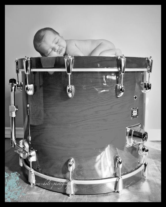 Newborn, Boy, Drum, Photography