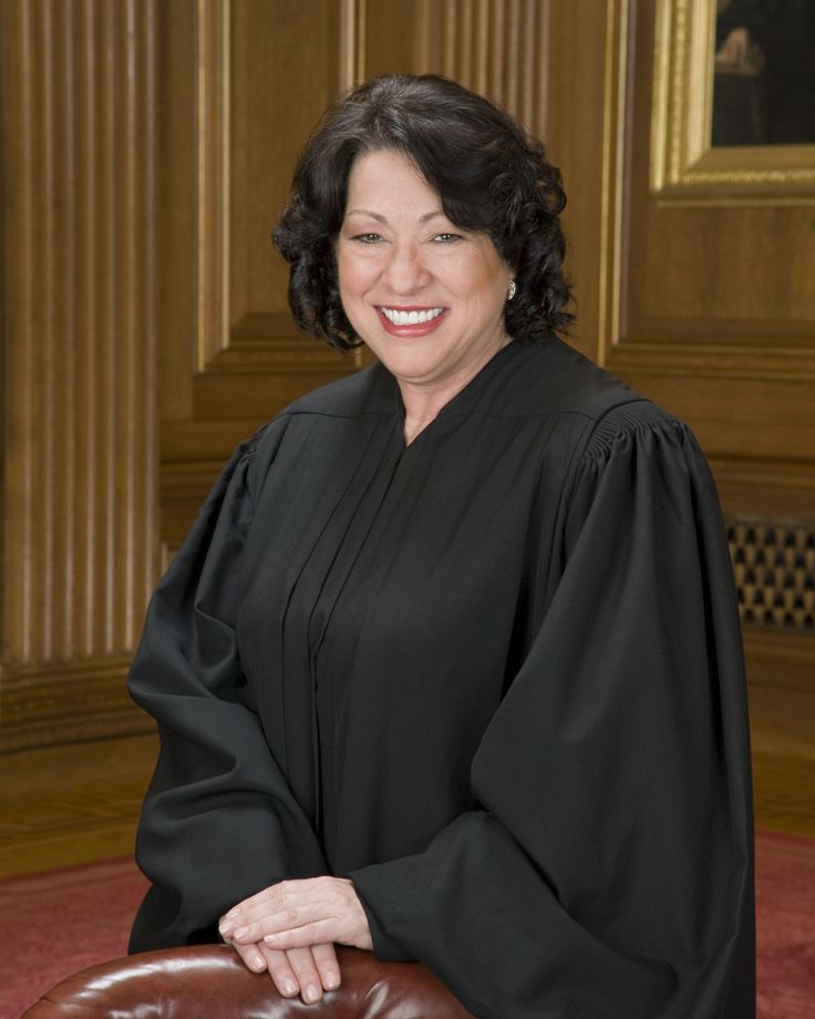 Sonia Sotomayor (b. 1954) is an Associate Justice of the U.S. Supreme Court. She's the Court's 111th justice, its first Hispanic justice, and its 3rd female justice. Sotomayor was nominated to the U.S. District Court for New York's southern district by Pres. George H. W. Bush; in 1997, nominated by Pres. Clinton to the U.S. Court of Appeals for the 2nd Circuit; in 2009, Pres. Obama nominated her to the Supreme Court.