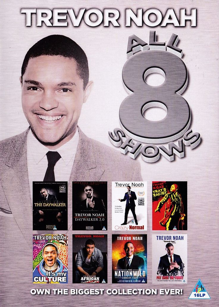 TREVOR NOAH - Daywalker/Crazy/Racist/Culture - South African 8 DVD Boxset New