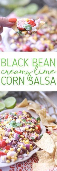 Black Bean & Corn Sa Black Bean & Corn Salsa with a...  Black Bean & Corn Sa Black Bean & Corn Salsa with a creamy lime dressing. SO easy and so fresh. Start your week right with more #MixItUpMonday recipes from Sams Club. #ad Recipe : http://ift.tt/1hGiZgA And @ItsNutella  http://ift.tt/2v8iUYW