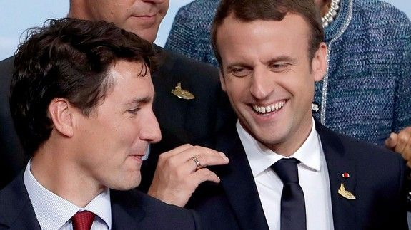 The cherished Trudeau-Macron bromance is thriving at the G20 Summit  Great news everyone! Your new favorite bromance between Justin Trudeau and Emmanuel Macron is still out there surviving and thriving.  The dreamy Canadian Prime Minister and French President had a chance to catch up at the G20 summit in Hamburg Germany this week  and thanks to exclusive footage shared by German Chancellor Angela Merkel we can confirm their bromance looks as strong as ever.  SEE ALSO: The Trump-Putin…