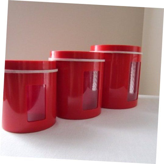 Typhoon Tin Red Kitchen Canisters Sublime Typhoon Tin Red Kitchen Canisters