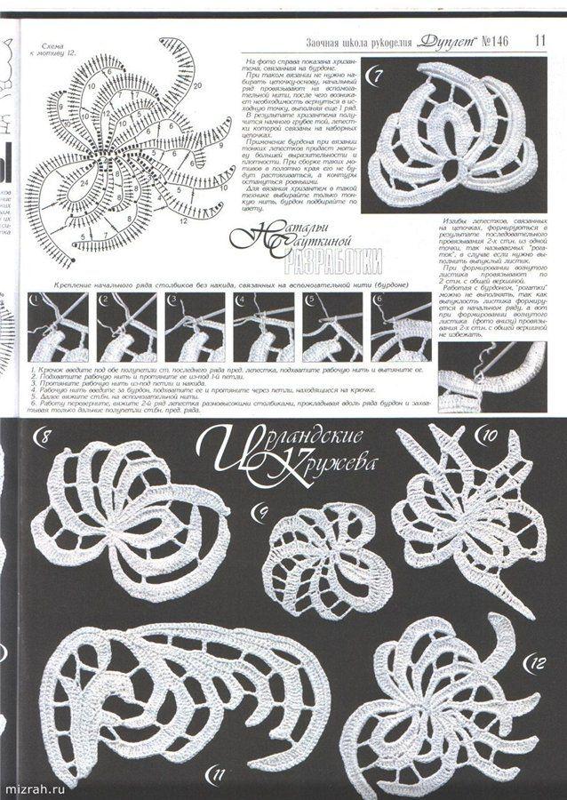 irish lace, crochet chrysanthemums   make handmade, crochet, craft