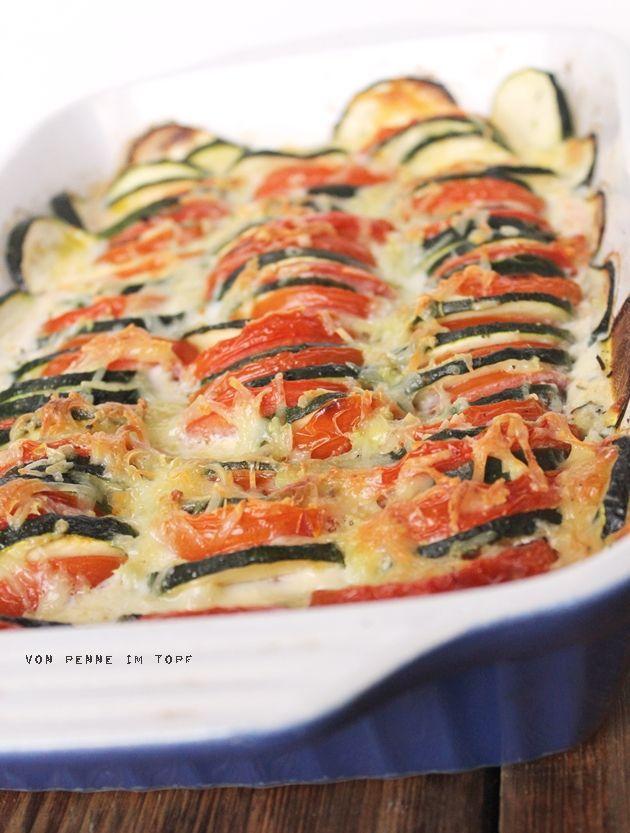 Zucchini-Tomaten-Auflauf | Penne im Topf | Bloglovin'