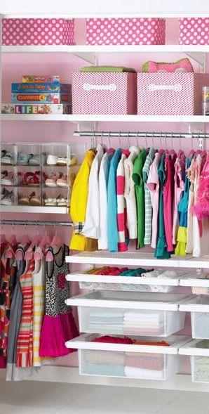 Organized closet for little girls  http://rstyle.me/n/d9ecknyg6