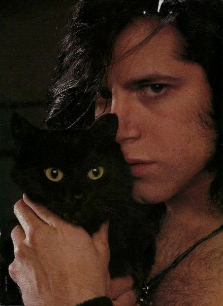 did anyone think i would find a picture of danzig with a black cat and not pin it