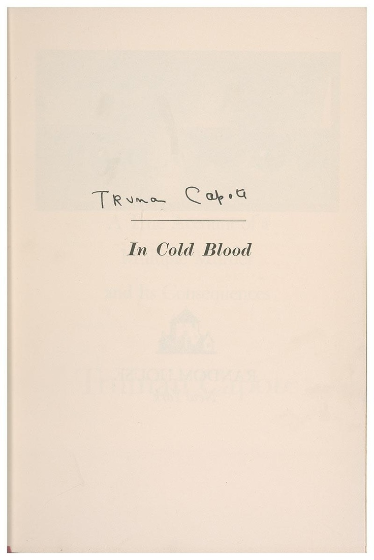best images about in cold blood blood signed edition of truman capote s in cold blood