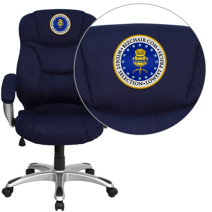 contemporary leather high office chair black. flash furniture go725nvyembgg embroidered high back navy blue contemporary leather office chair black i