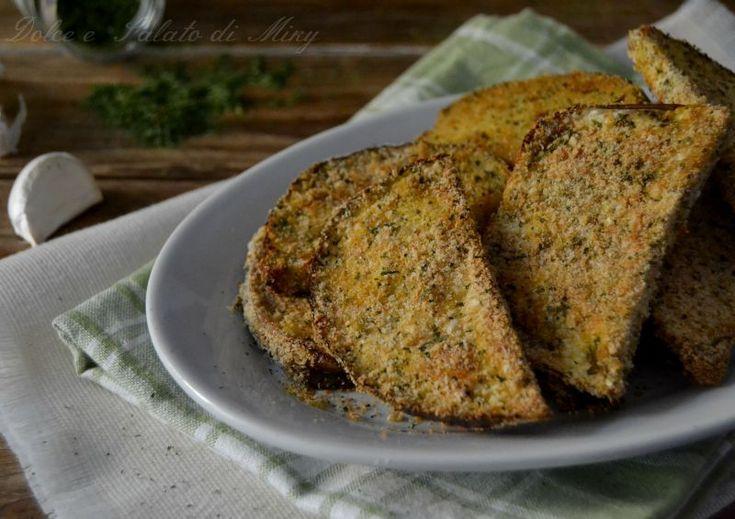 Melanzane impanate al forno, gustosissime come fritte ma più leggere.