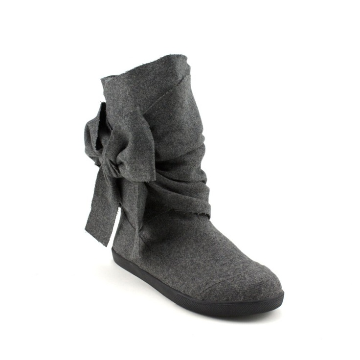 Fluffy Slipper Shoes Brown With Black Tie