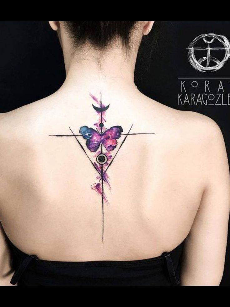 Your Spine Tattoo Doesnt Really Mean You Need A Design That Will Cover Up Whole This Butterfly Could Work As Well