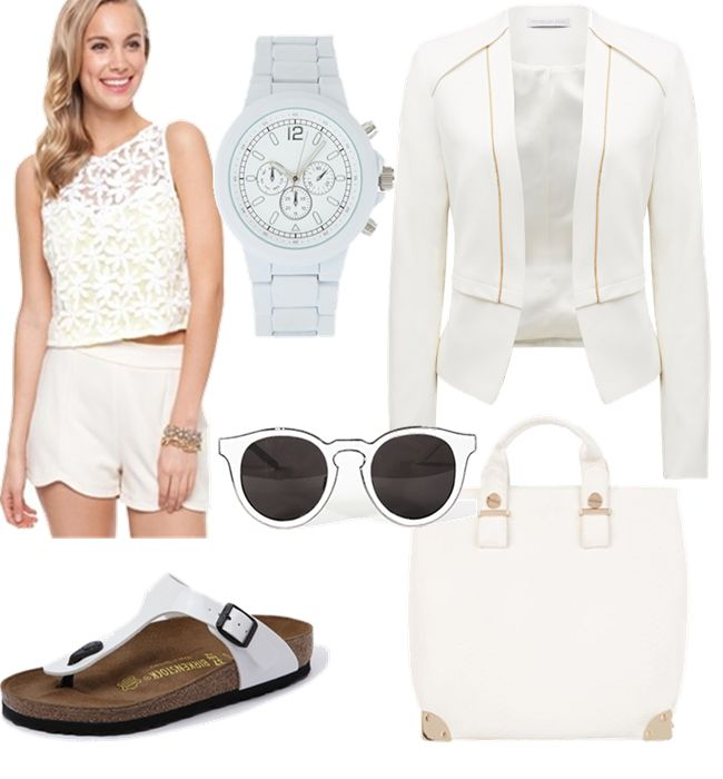 Everything White.  This white on white trend will follow through from Summer to Winter in 2014.  It's a while since we've seen white appearing in Winter outfits so make the most of it!