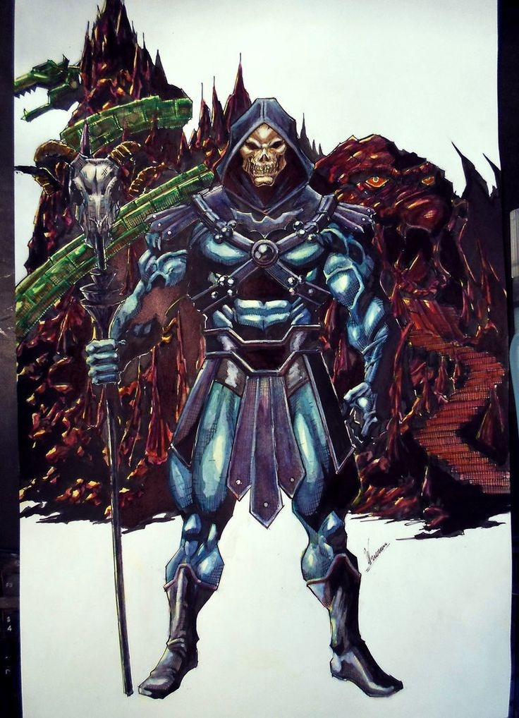 Skeletor with the same composition of He-Man by ahuizotl13