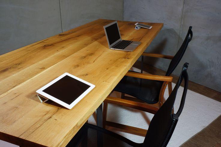 Oak conference desk table