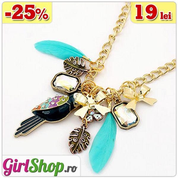 Colier cu charm-uri si pene -> doar 19 lei  http://www.girlshop.ro/cumpara/colier-cu-charm-uri-si-pene-143  #colier #charm #necklace