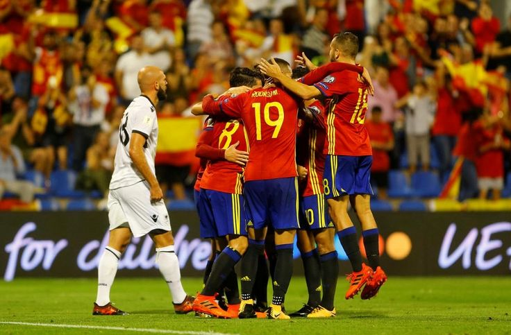 Victory over Albania, coupled with a poor result by Italy against Macedonia, has ensured La Roja will be at next year's event in Russia....