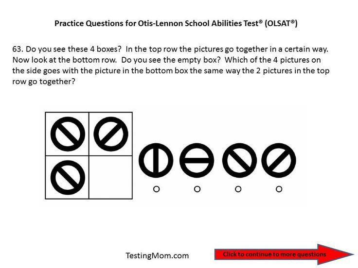 17 Best images about OLSAT® Test (Otis-Lennon School Ability Test ...