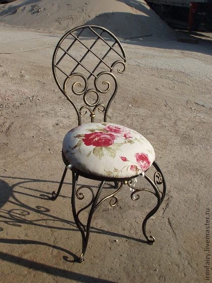 Мебель ручной работы. Ярмарка Мастеров - ручная работа Стул кованый. Handmade.