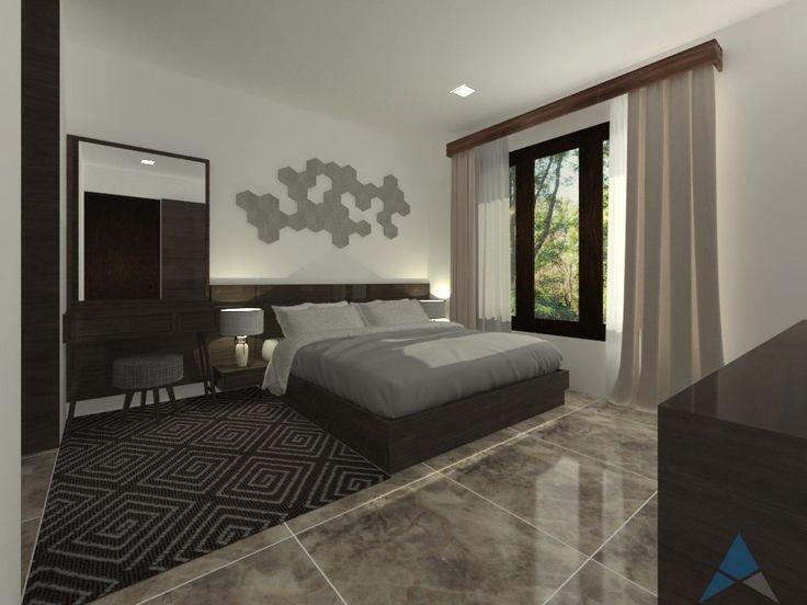 Desain interior Kamar Tidur Utama (Master Bedroom) untuk rumah tinggal, oleh REKAMAGNA