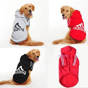 Dogs Warm Clothes Hoodie Coat Big Dogs Clothes Large Dogs Sports Jacket Adidog